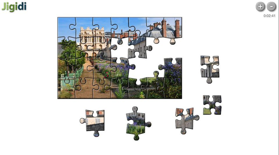 Piecing together a Jigidi Jigsaw Puzzle