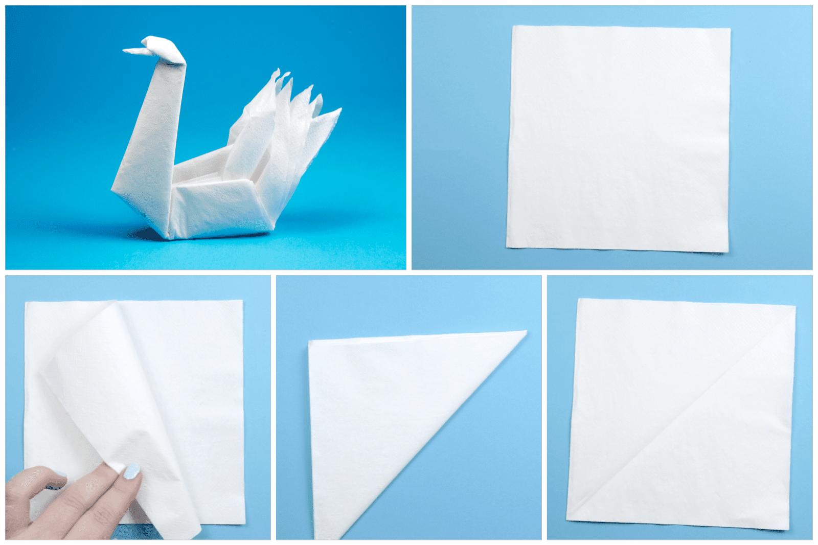 How To Make An Origami Napkin Swan Goose Diagrams