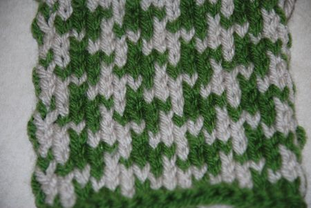 How To Knit Two Color Houndstooth Pattern
