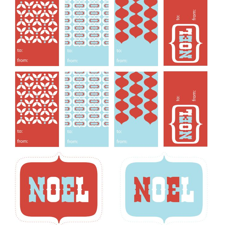 printable holiday gift tags by paper crave