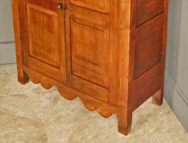 Block Feet on a Walnut Jelly Cupboard