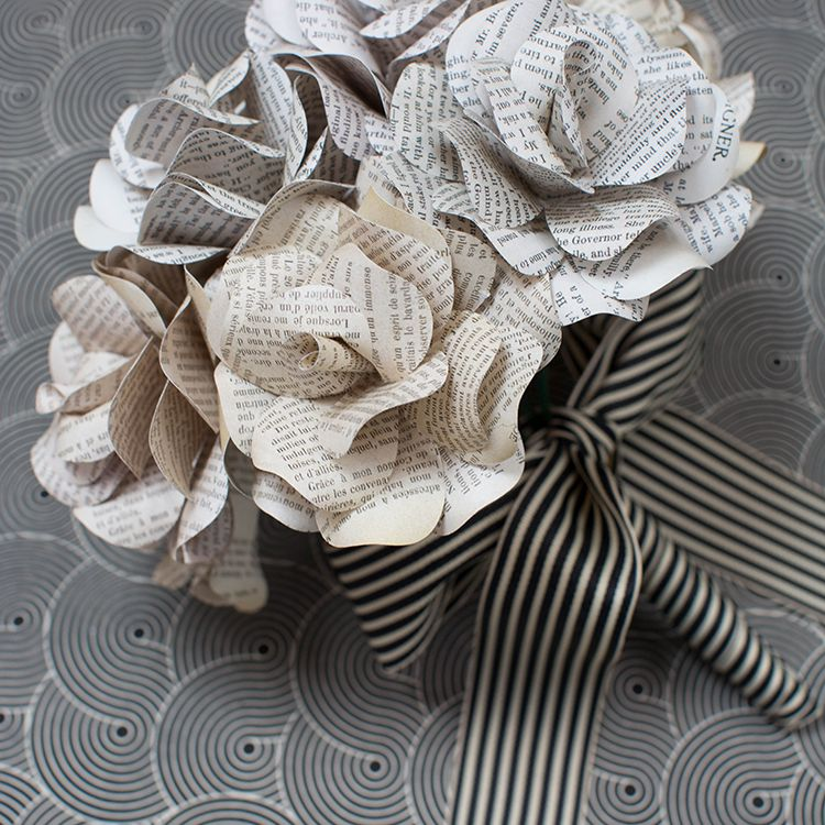 book page flowers