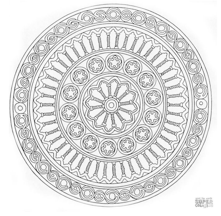 Free Printable Mandala Coloring Pages For Adultsrhthesprucecrafts: Easy Zen Coloring Pages At Baymontmadison.com