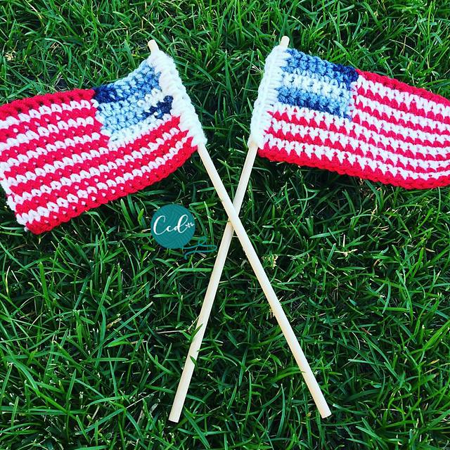 Crochet US Flag Free Pattern