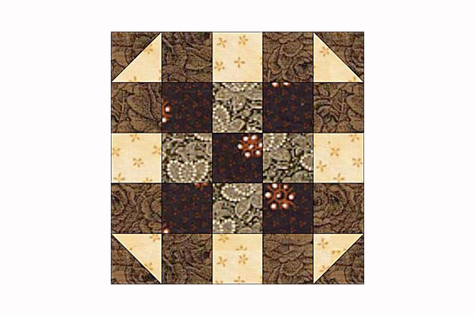 A round the corner quilt block pattern