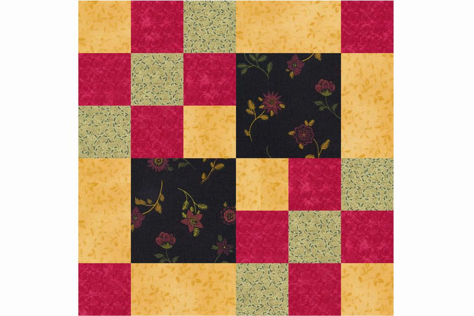 Domino Net Quilt Block Pattern