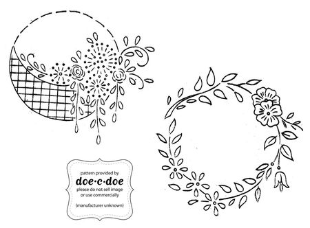10 Wreath Embroidery Patterns For Any Time Of Year