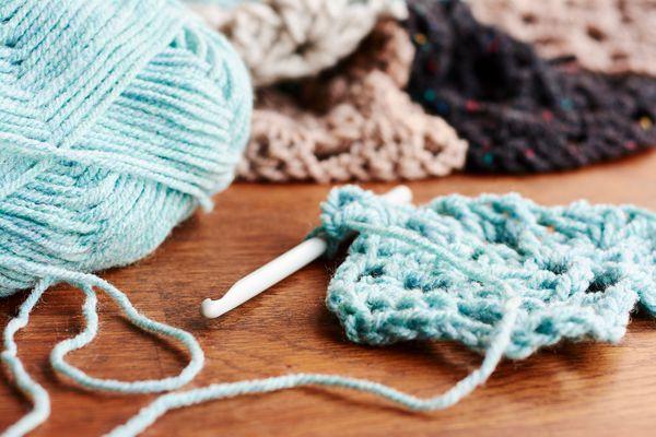 Cotton yarn for crocheting