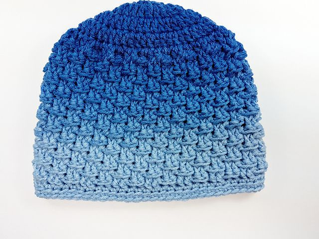 Textured Free Crochet Hat Pattern Ombre All Sizes
