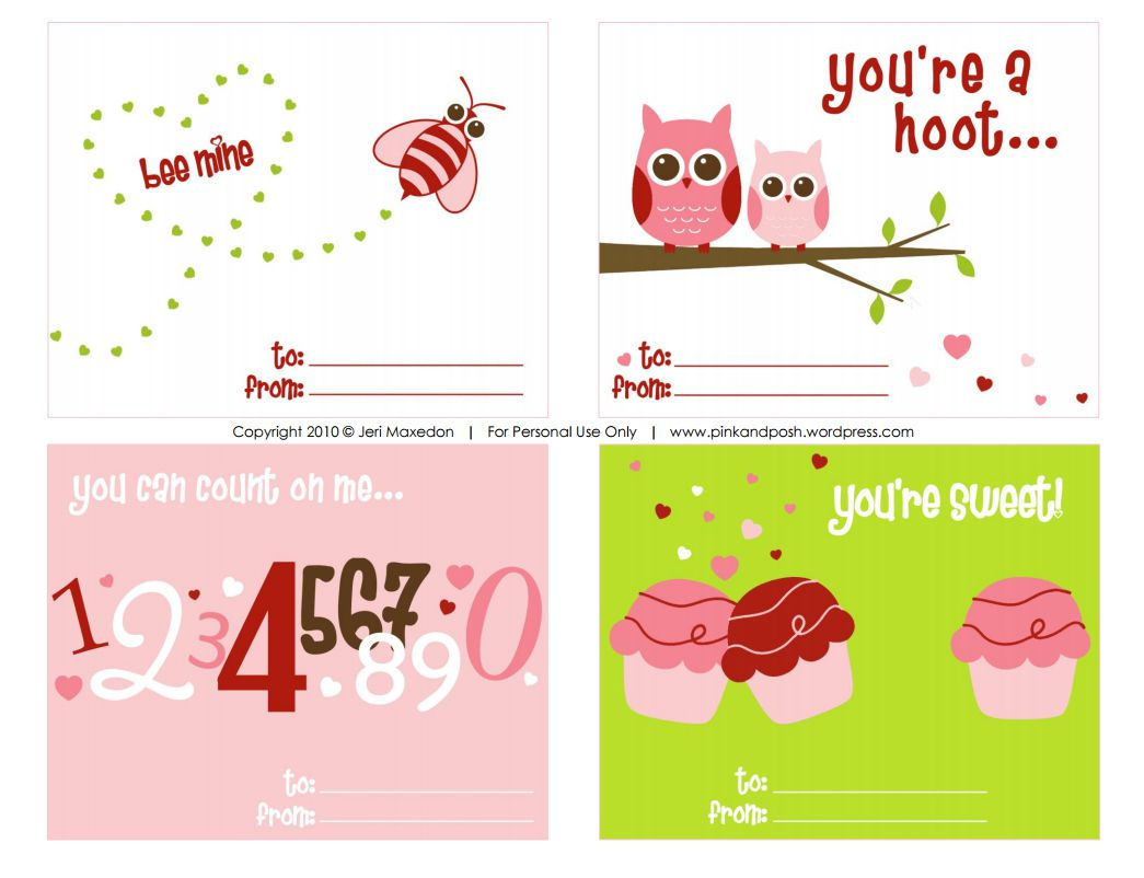 Free Printable Valentines Cards For Valentine S Day