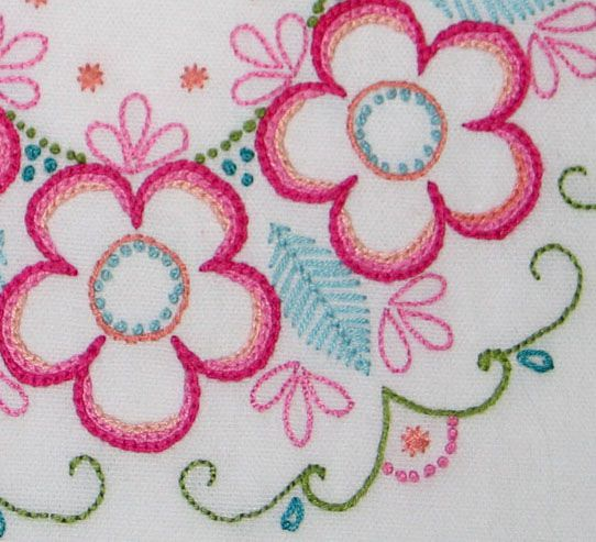 Close up of surface embroidery