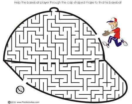 A Maze Shaped Like Baseball Hat