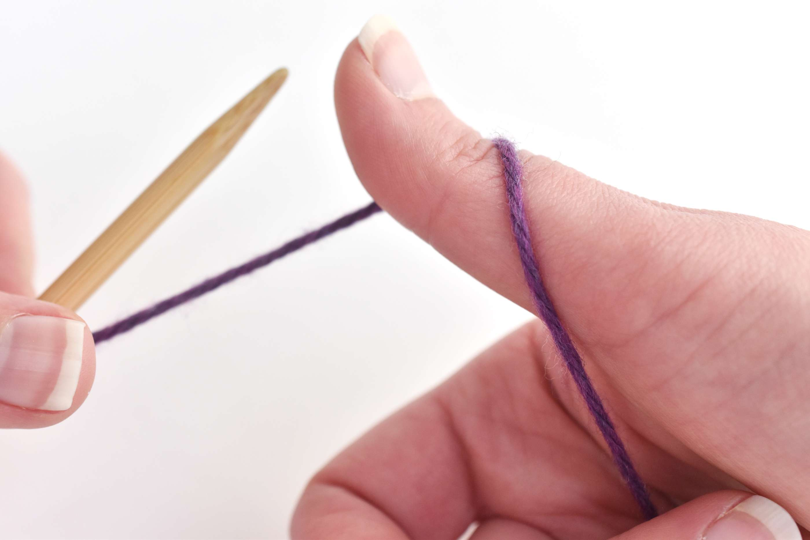 Wrap the Yarn Around Your Thumb