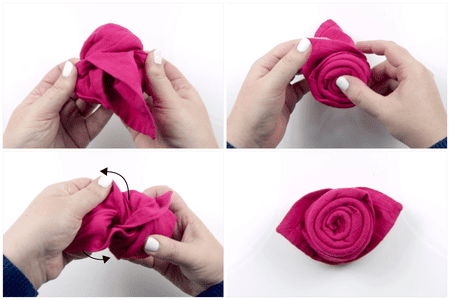 How to make a beautiful origami napkin rose how to make a rose napkin 05 mightylinksfo