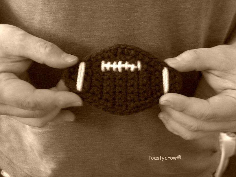 Football Applique Free Crochet Pattern
