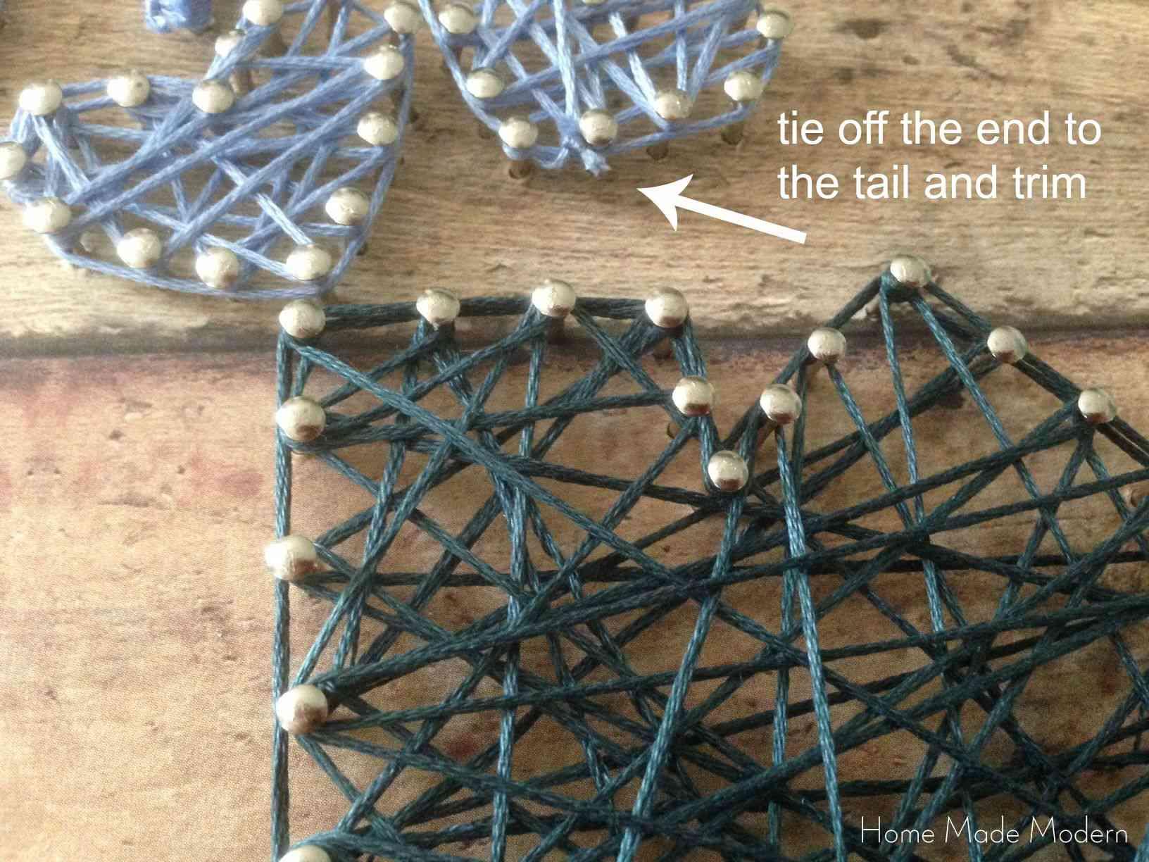 String Art Step By Step Tutorial
