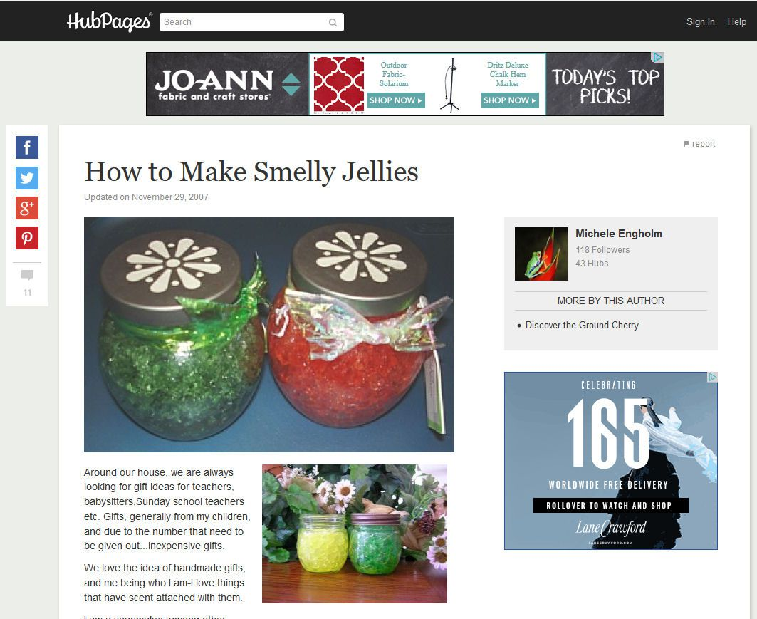 Hub Pages - How to Make Smelly Jelly