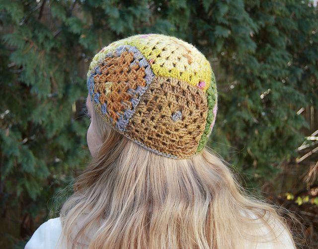 Granny Square Crochet Hat