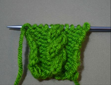 Cable Back Knitting Technique