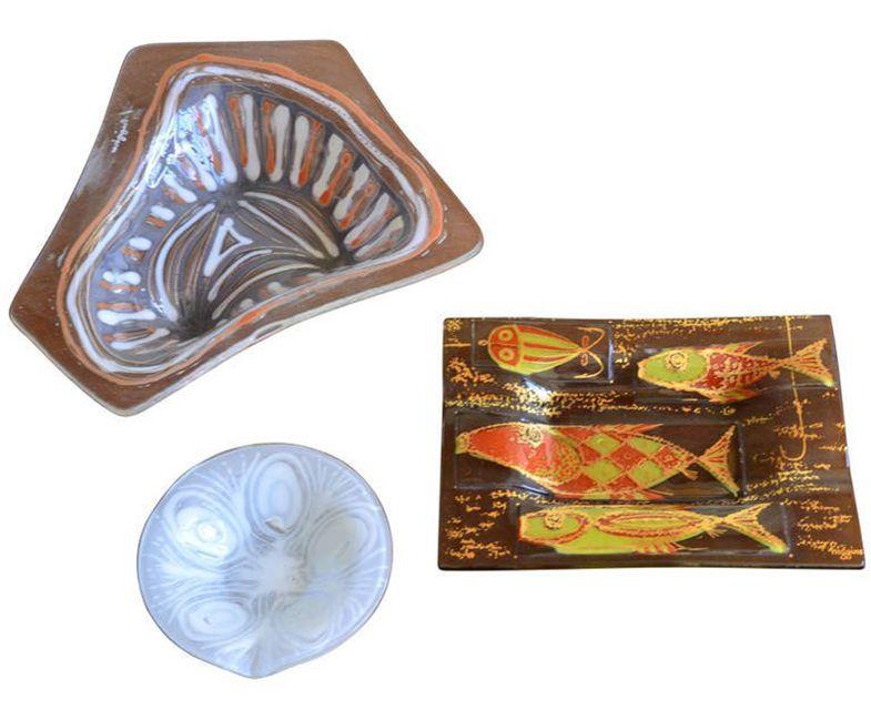 Three Examples of Higgins Studio Glass