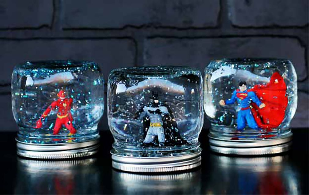 diy super hero snow globe