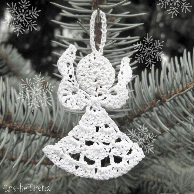 Angel Christmas Ornament FREE Crochet Pattern