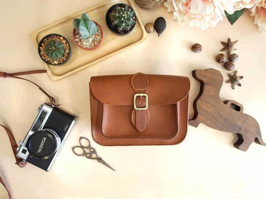 Handmade Small Leather Satchel