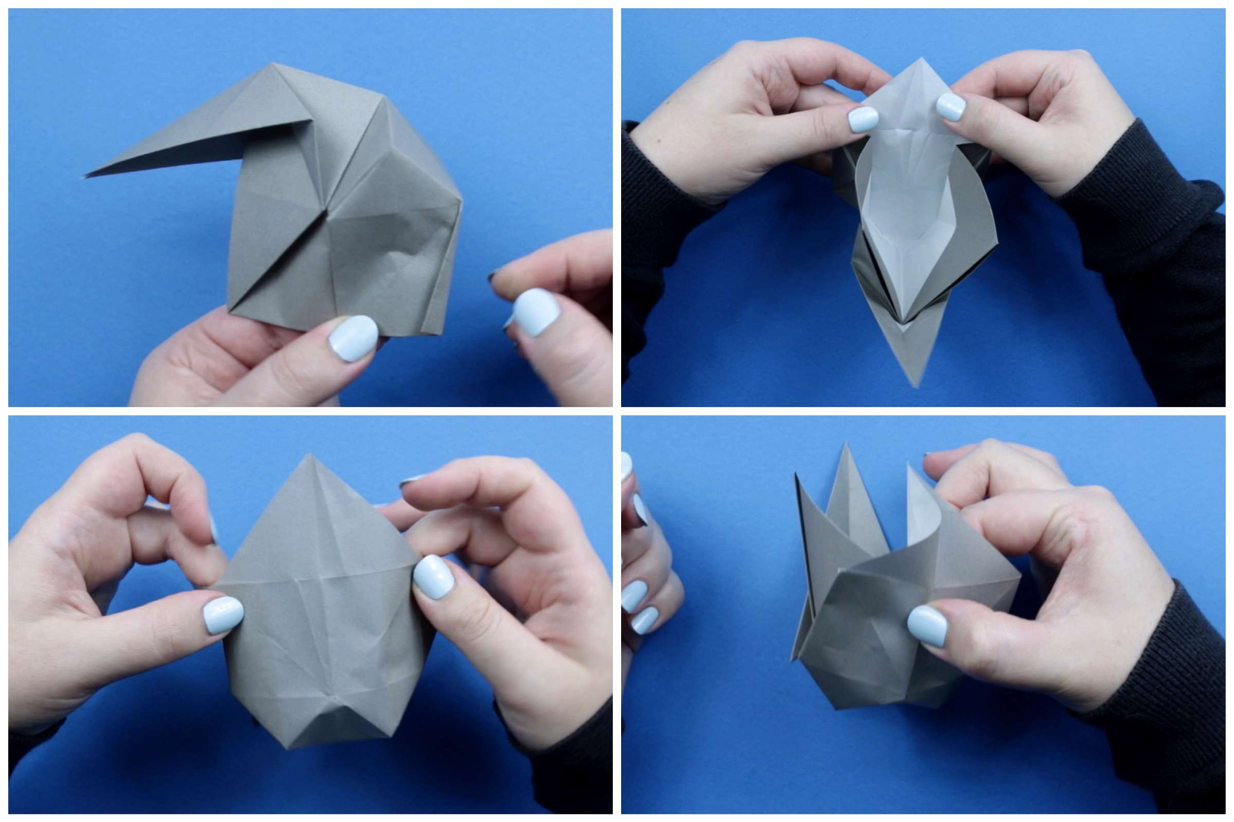 Origami elephant tutorial step nine