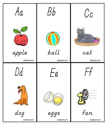 Printable Alphabet Flashcards By ABC Teach A F Flash Cards