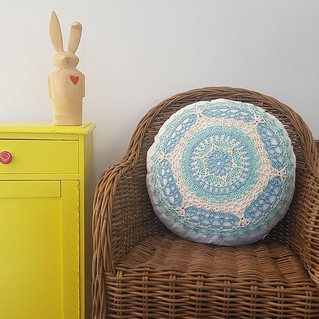 Crochet Mandala Cushion Free Pattern