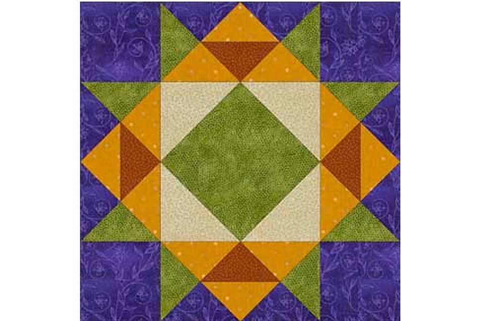 Crown of Thorns Quilt Block Pattern