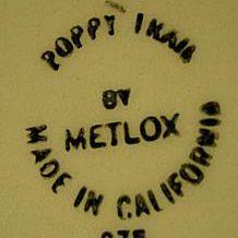 Metlox Pottery Made in California Mark