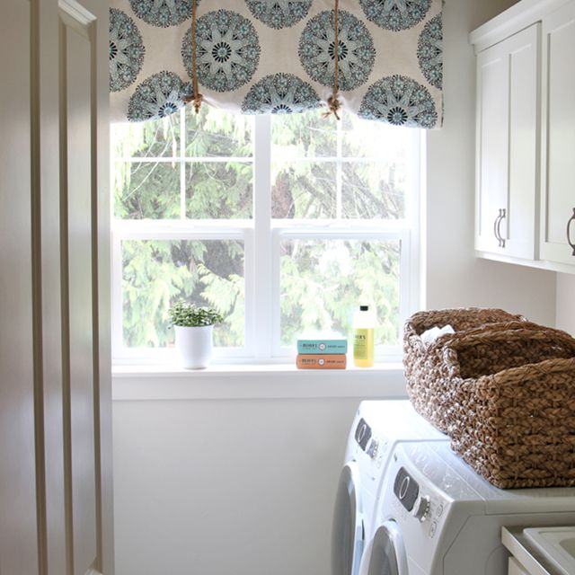 diy no sew rolled curtain