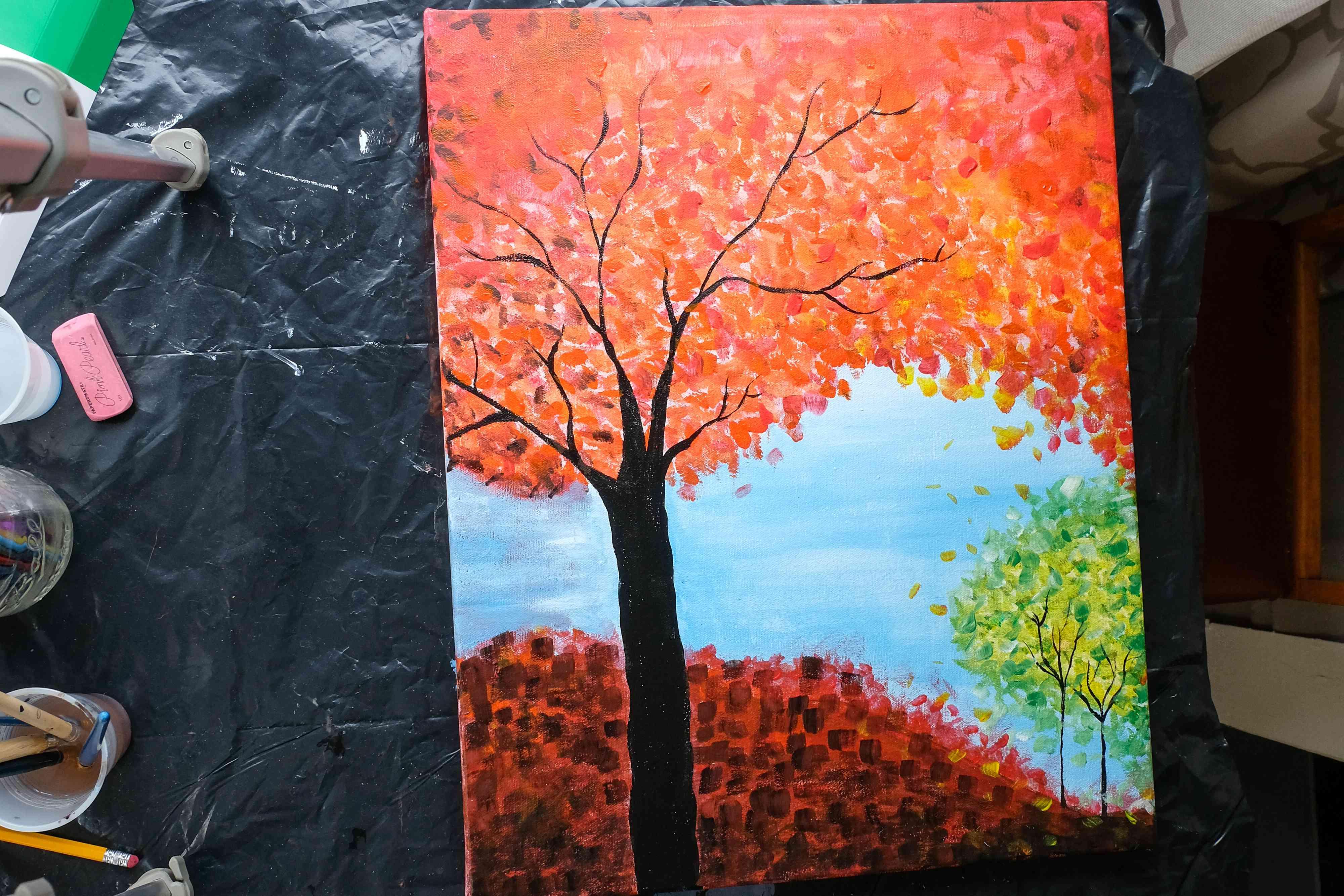 fall tree tutorial