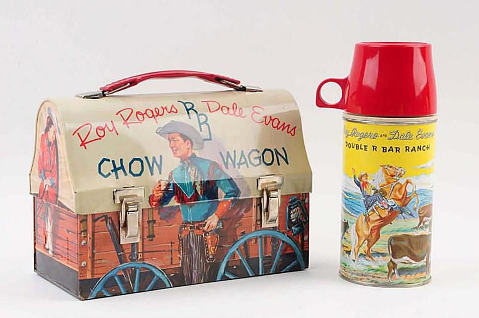 Roy Rogers Chow Wagon Lunchbox with Thermos - Sold for $325 in September, 2015 at Morphy Auctions