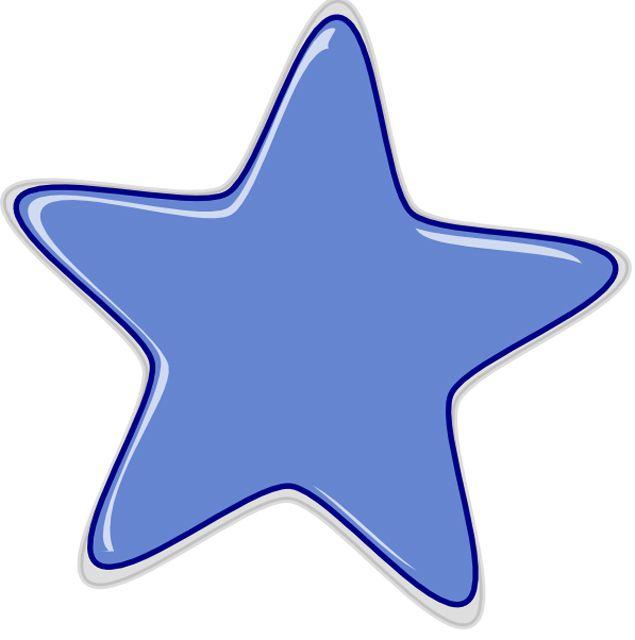 A blue bubble star.