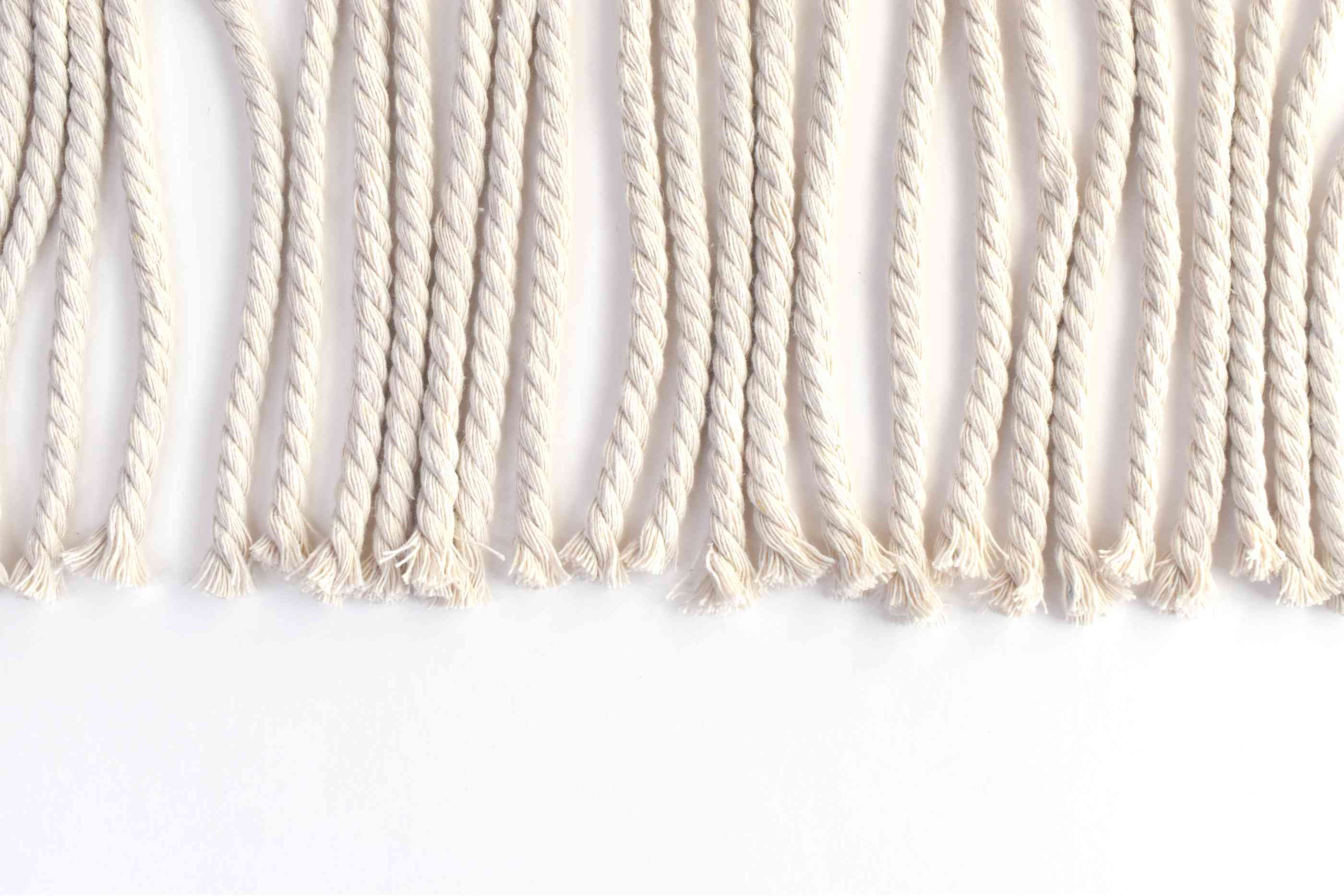 Trim the ends of the ropes to make them even