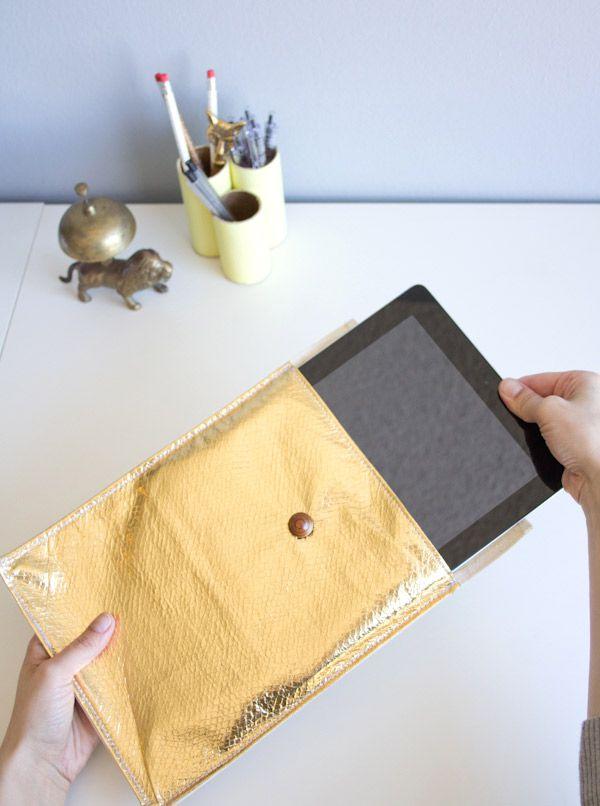 DIY Leather Laptop Sleeve