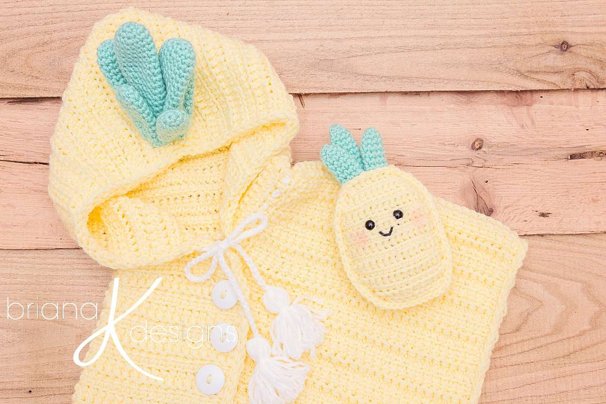 Pineapple Poncho and Stuffed Pineapple Pattern