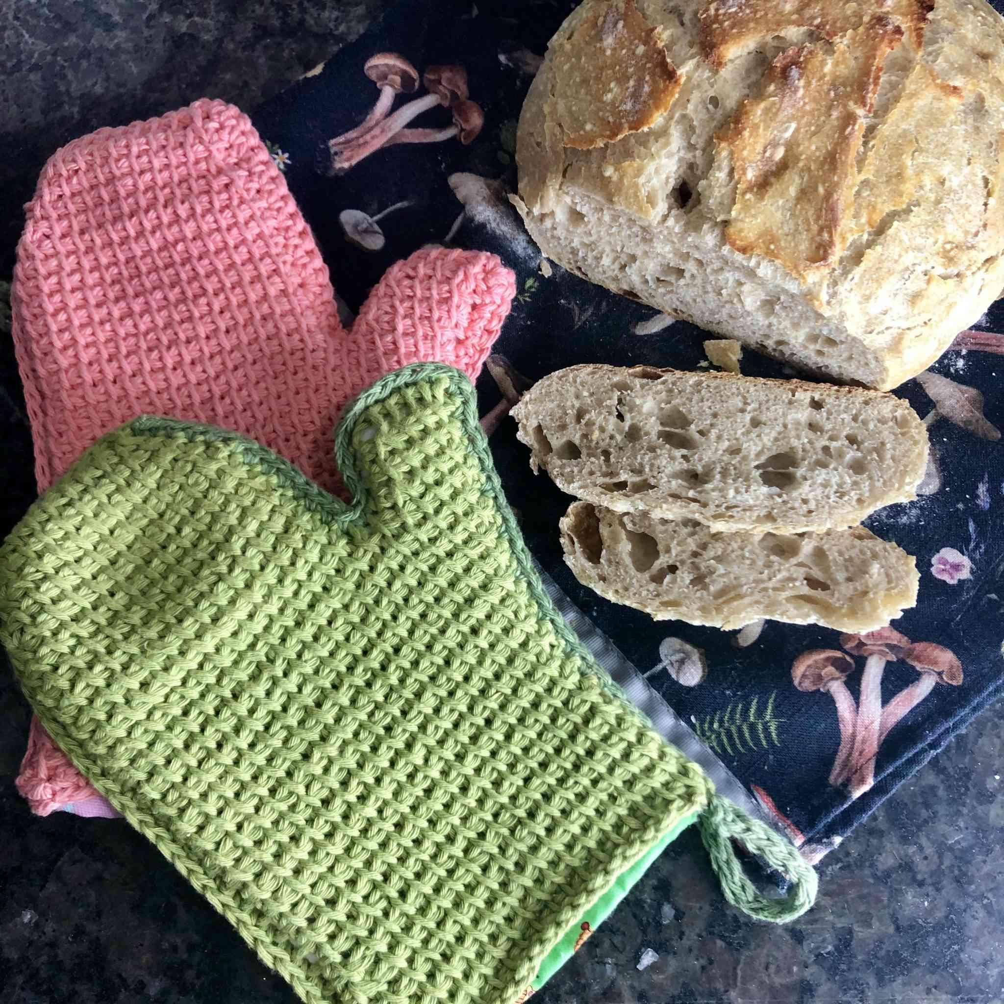 Afghan Stitch Crochet Hot Mitt