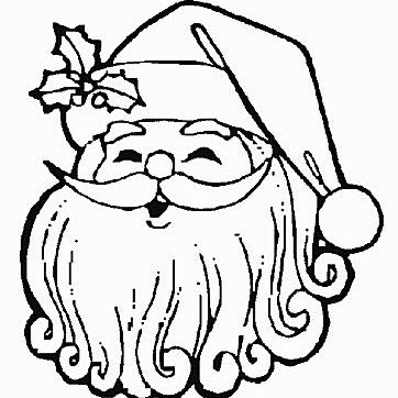 picture of a smiling santa claus coloring page