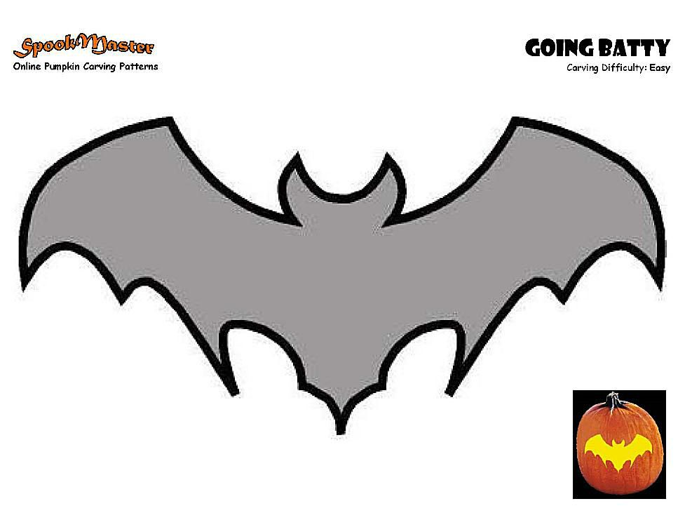 Master Free Pumpkin Carving Patterns Bat Template