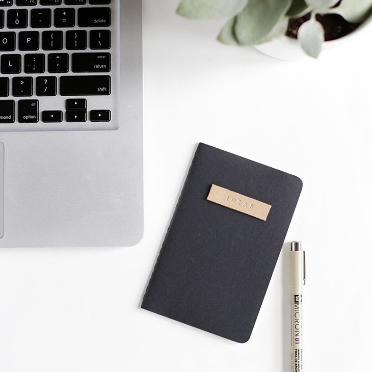 Leather stamped notebook