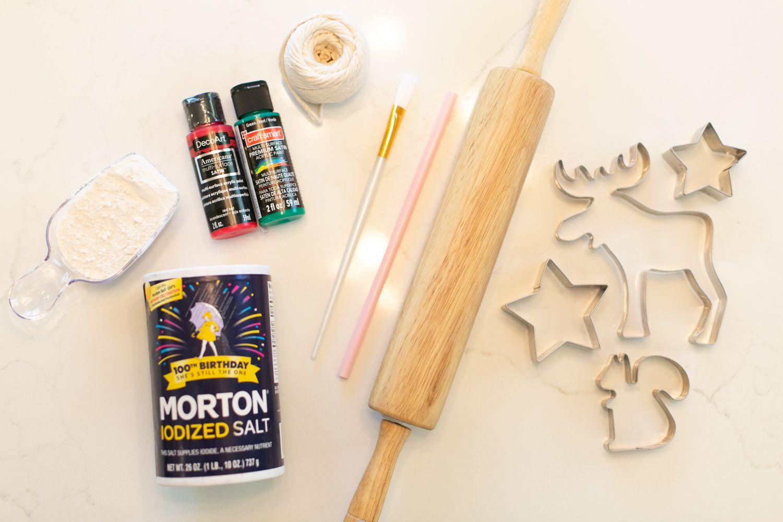 Materials for DIY salt dough ornaments