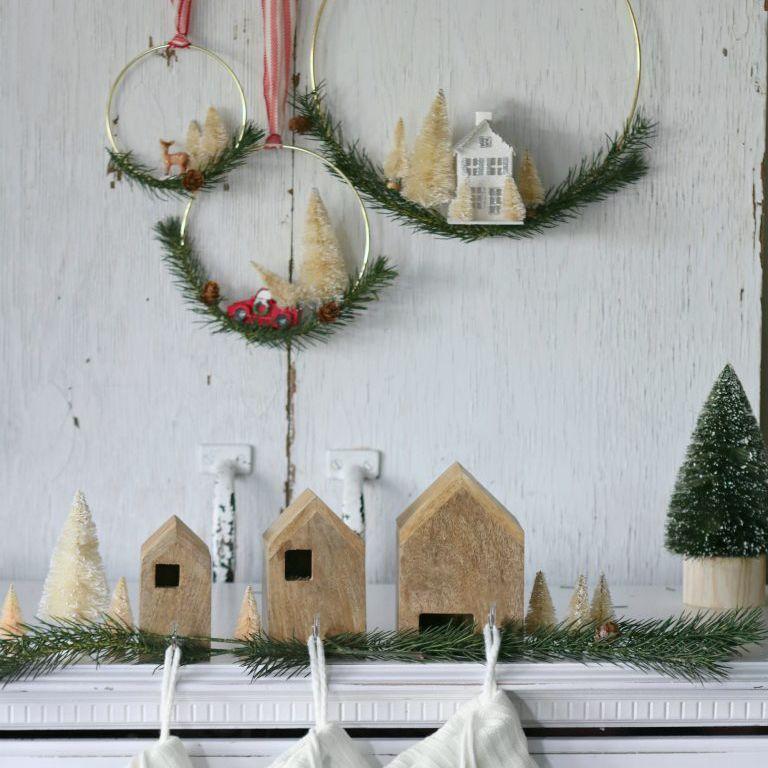 DIY Bottle Brush Christmas Tree Wreath