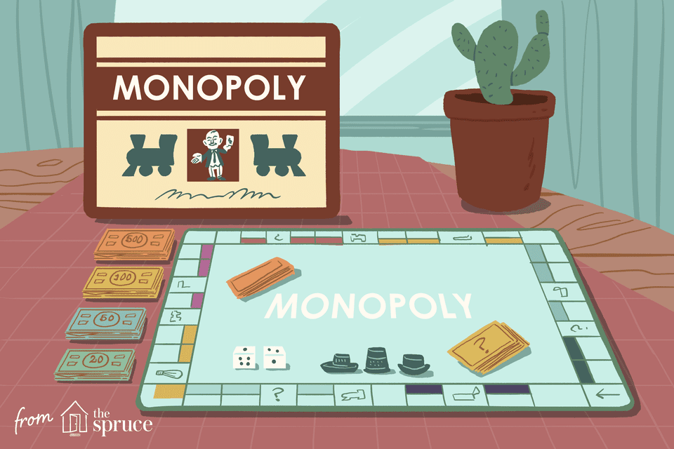 Illustration of vintage Monopoly board
