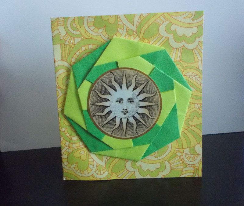 Origami Card with bright colors