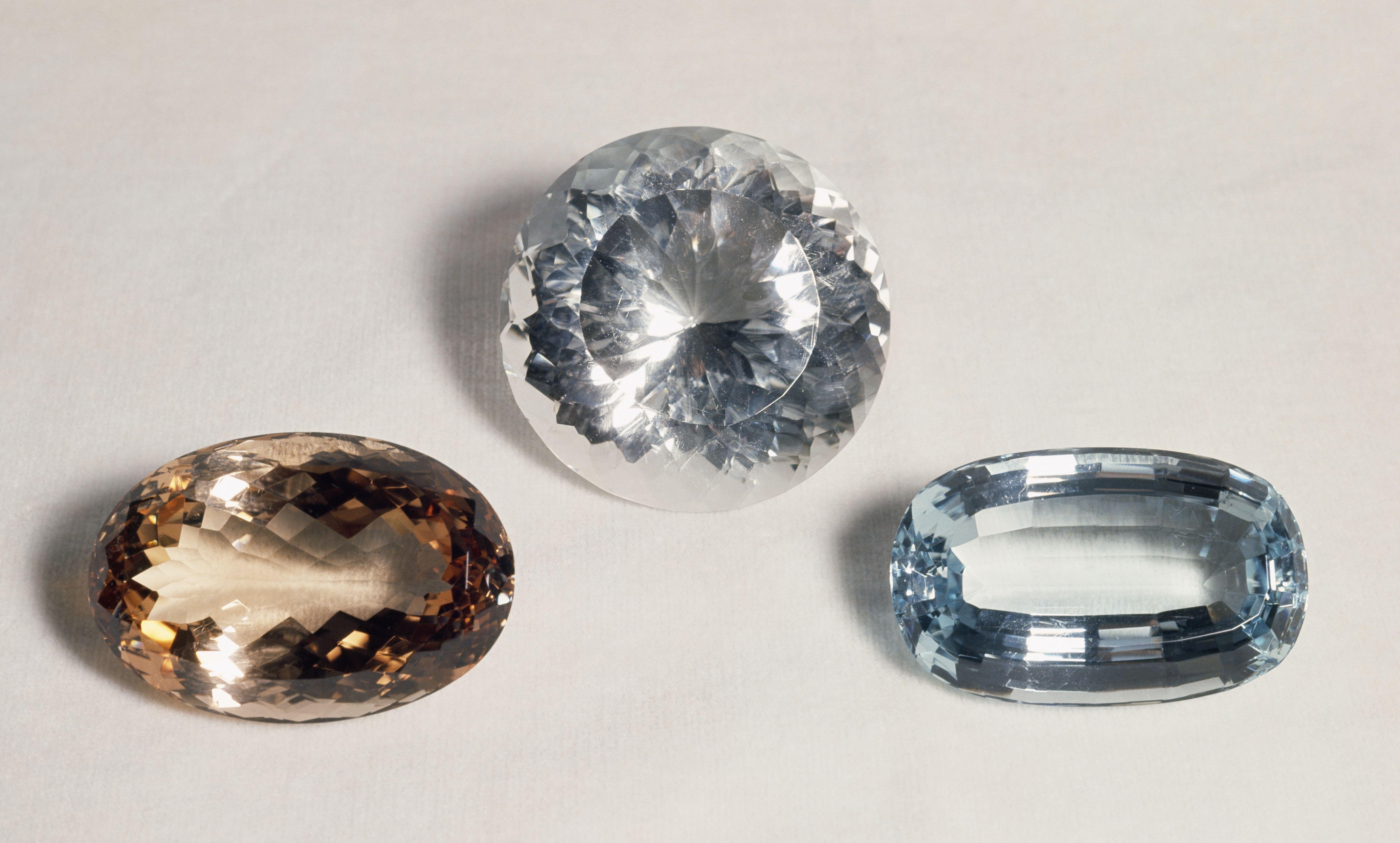 Different topaz stones
