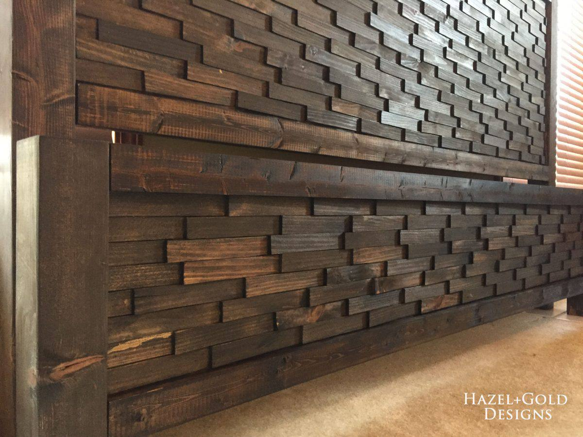 A Close Up Of Textured Wood Headboard