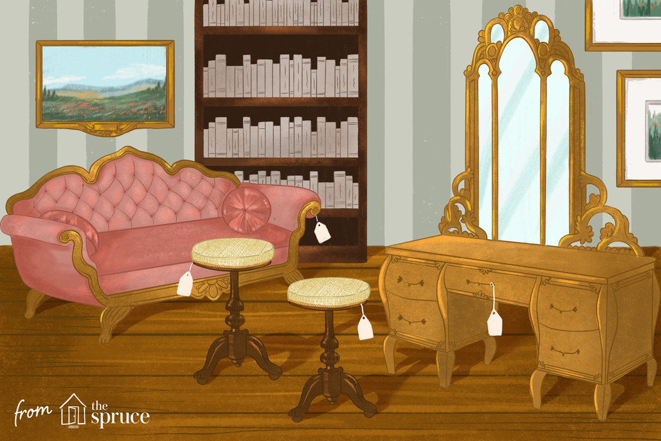 Illustration of antique furniture